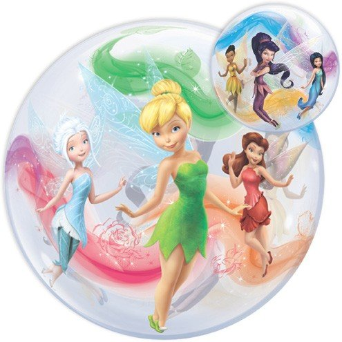 LuftBalloons 22 Inch Tinker Bell and Fairies Bubble -
