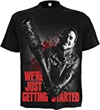Spiral – Mens – NEGAN – JUST GETTING STARTED – Walking Dead T-Shirt Black – M