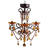 River of Goods 14885S Italian Romance Wireless LED 3-Arm Chandelier with Remote, Amber