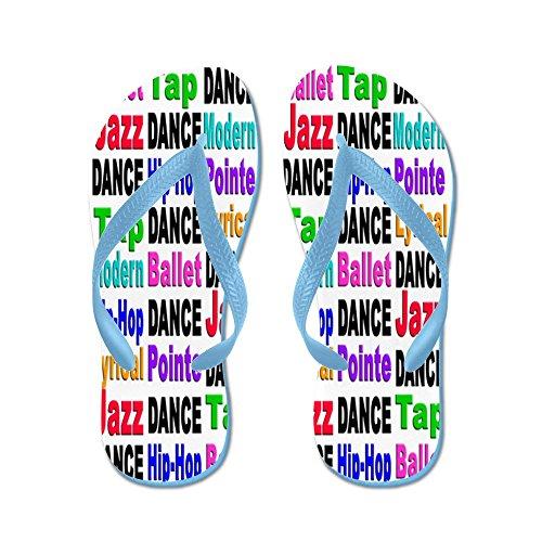 Cafepress Dansstilar # 2 - Flip Flops, Roliga Rem Sandaler, Strand Sandaler Caribbean Blue