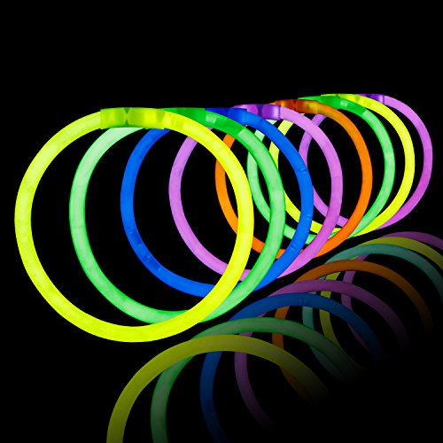 - LaRibbons 200Pcs 8'' 5mm Glow Sticks Bracelets Assorted Colors,Birthday Party Favors
