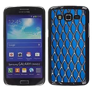 Exotic-Star ( metall setka fon ) Fundas Cover Cubre Hard Case Cover para Samsung Galaxy Grand 2 II / SM-G7102 / SM-G7105