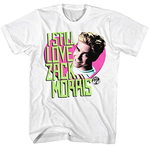 Saved by The Bell Love Zack T-Shirt, White, 2XL