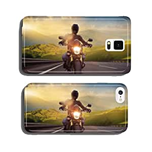 Man seat on the motorcycle on the mountain road cell phone cover case Samsung S5
