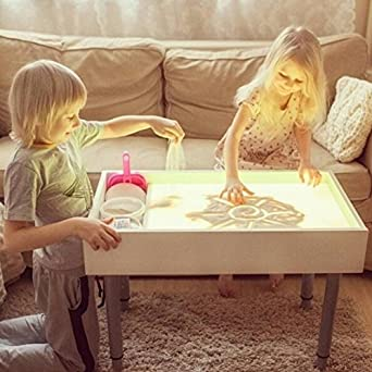 Light Table For Kids. Sand Art, Tool For Learning Shapes, Colors