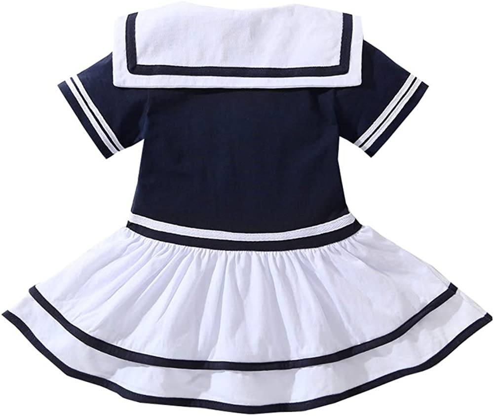 HUHUXXYY Infant Baby Girls Summer Short Sleeve Sailor Nautical Rompers Jumpsuits