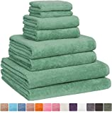 Fast Drying Cotton XL Bath Towel Set of 8 Turkish Towels, Sage Green Deal