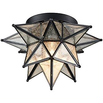 Dazhuan Moravian Star Light Flush Mount Celing Light