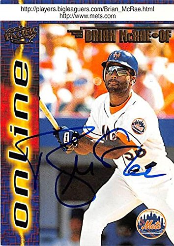 Brian Mcrae Autographed Baseball Card New York Mets 1998