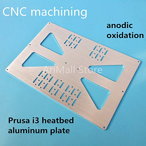 WillBest 3D Printer Parts Heating Platform Z-axis Support Aluminum Plate for Prusa I3 Extended Support Plate Distance 140mm to 170mm by WillBest