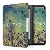 kwmobile Elegant synthetic leather case for the Kobo Glo HD / Touch 2.0 Design Be Free in black blue white