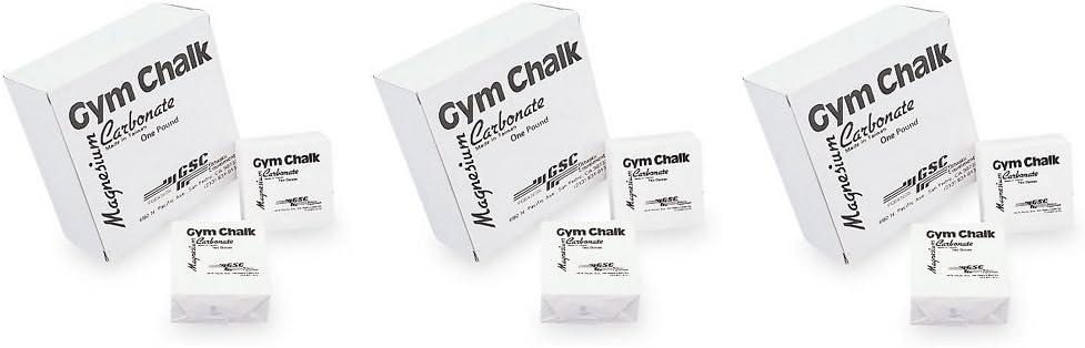 Pack of 3 GSC Gym Chalk 1lb