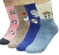 JJMax Women's Cute Black and White Panda Bear Endangered Species Socks