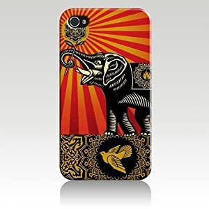 Obey Elephant Hard Case Skin for Iphone 4 4s Iphone4 At&t Sprint Verizon Retail Packing.