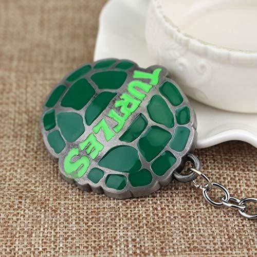 Llavero chapado en plata con diseño de tortugas ninja ...