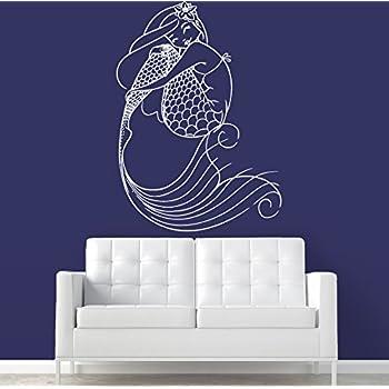 Wall Decal Vinyl Mermaid Deep Sea Animal Water Nymph Nature Fish Kids M287