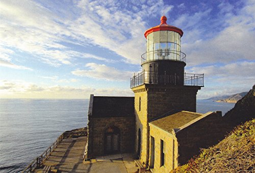 (LIGHTHOUSES13 - POINT SUR LIGHTHOUSE POINT SUR, CALIFORNIA - - Another Beautiful LIGHTHOUSE POSTCARD from HibiscusExpress)