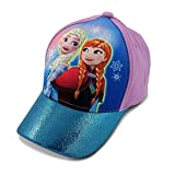 Disney Little Girls Frozen Anna and Elsa 3D Pop Baseball Cap, Age 4-7 Blue/Purple