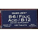 Trader Joe's B-6 / Folic Acid / B-12 Dietary Supplement, Under The Tongue, 100 Tablets