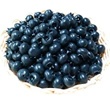 Gresorth 50pcs Artificial Blueberry Craft Fake Fruit Blueberries Home House Kitchen Cabinet Decoration