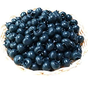 Gresorth 50pcs Artificial Blueberry Craft Fake Fruit Blueberries Home House Kitchen Cabinet Decoration 53