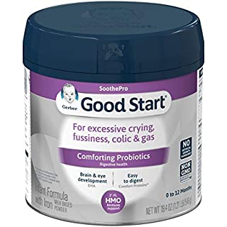 Gerber Good Start Soothe Non-GMO Powder Infant Formula, Stage 1, With Iron, 2'-FL HMO and Probiotics for Colic, Digestive Health and Immune System Support, 19.4 Ounce
