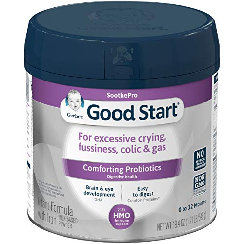 Gerber Good Start Soothe (HMO) Non-GMO Powder Infant Formula, Stage 1, 19.4 oz