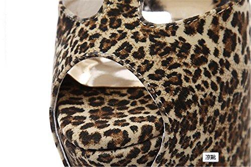 Frescas De Tubo Boca Tacones Leopardo de De Boca Pescado Pescado Sra Verano Prueba Kitzen Alto Agua Plataforma A Moda De Mujer A Sandalias Altos Botas 1aUx5W8