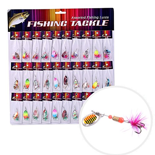 BLISSWILL-30Pcs-Metal-Fishing-Lures-Crankbait-Spinner-Baits-Assorted-Fish-Hooks-Tackle-For-Pike-Trout-Salmon-Bass