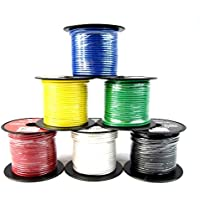 16 GA Single Conductor Stranded Remote Wire 6 Rolls Primary Colors 12V 100FT EA