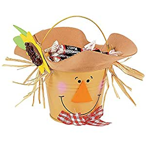 Scarecrow bucket craft kit crafts for kids for Amazon arts and crafts for kids