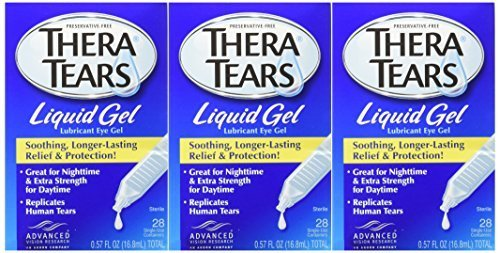TheraTears Liquid Gel, 28-Count Package (Pack of 3) by Thera Tears