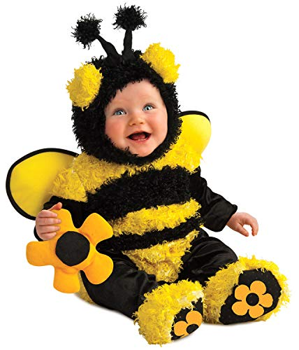 Rubie's Costume Noah's Ark Buzzy Bee Romper Costume, Yellow, 6-12 Months -