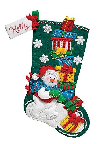 Bucilla 86864 Snowman with Presents Stocking Kit by Bucilla