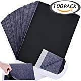 Wangday Carbon Paper, Black Graphite Transfer Tracing Paper for Wood, Paper, Canvas and Other Art Surfaces- 100 Sheets