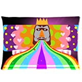 Chetery Popular Colorful Japanese Game Katamari Damacy King Printed Custom Soft Zippered Decorative Pillow Case Cover in Roomy Size 20x30(two Side) Great Gifts for Children Fashion Design
