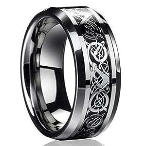 Amazon.com: ILJILU - Anillo de titanio para hombre, diseño ...