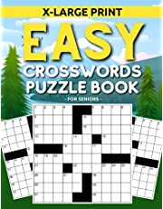 Big and Easy Crossword Puzzle Book For Seniors: Extra Large Print Easy-To-Read Crosswords (Great Dementia Activity For Elderly)