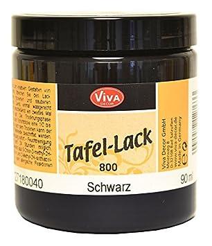 Tafellack Farben viva decor tafellack schwarz 250ml amazon de küche haushalt