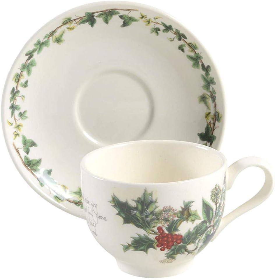 Portmeirion Holly & Ivy Tea Cup and Saucer (64820)