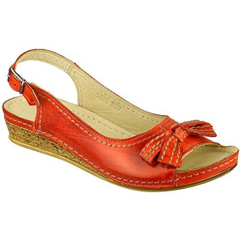 Cotswold Velvet Señoras Zapatos Cuero Para Mujer Zapatos Verano Red