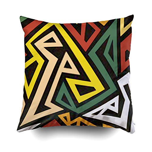 Musesh Christams Geometrics Kwanzaa Cushions Case Throw...