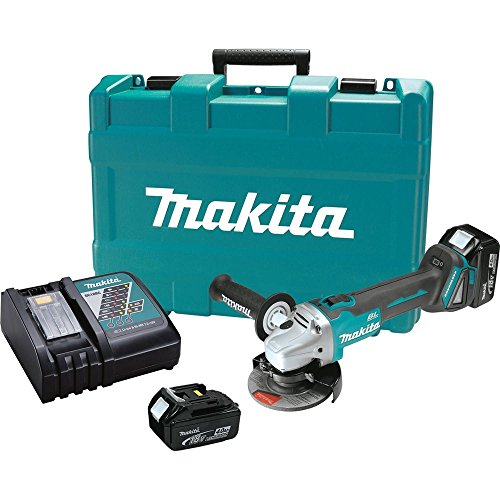 Makita XAG03M 18V LXT Lithium-Ion Brushless Cordless Cut-Off Angle Grinder Kit, 4 1 2-Inch Discontinued by Manufacturer