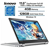 2018 Newest Flagship 360°Convertible Lenovo Yoga 710 2-in-1 Laptop, 11.6 FHD IPS Touchscreen Display, Intel Pentium Dual Core Processor, 4GB RAM, 128GB SSD, HD Graphics 615, Windows 10 (Silver)