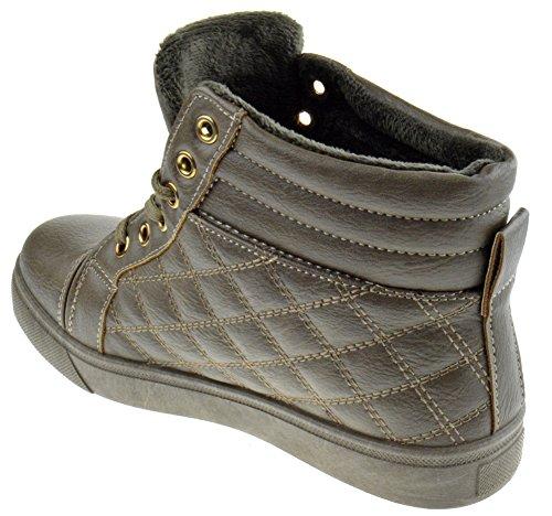 Sneaker 01 Allacciata Trapuntata Accento Comfort Sneaker Kaki