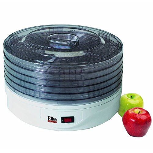 Maxi Matic Elite Gourmet 5-Tray Food Dehydrator with Vented Lid- White (Jetstream Oven Parts compare prices)
