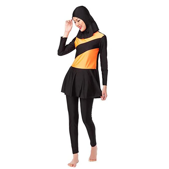 4ed39364d18844 Deylaying Estate Islamico 3-Pezzi Burkini Beachwear Modesto Musulmano Donne  Copertura Completa Malaysia Arabo Middle East Allegato Hijab Costume da  Bagno ...