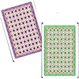 "Marion Pro ""Diamonds"" 100% Plastic Cards - Jumbo Index - Bridge Size"