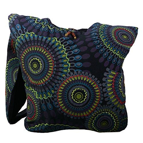 12 Magie x al lila para mujer hombro Kunst 38 de und negro y x algodón 32 Bolso ca cm 5nOfU6fx