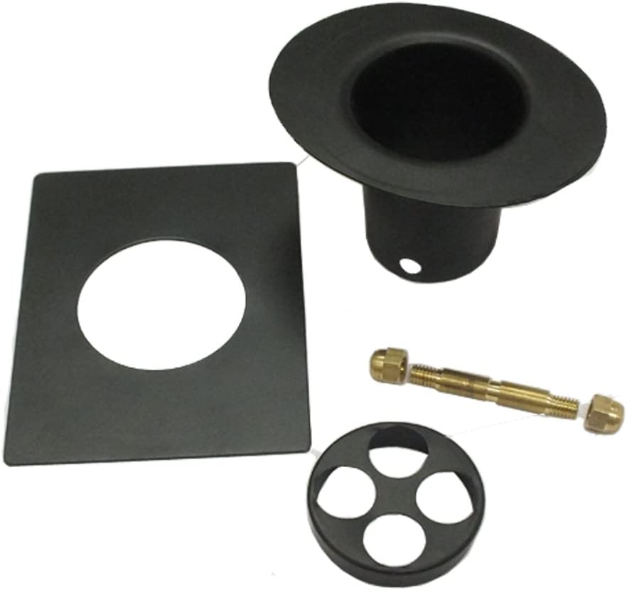 Monarch Aluminum 3-Piece Rain Chain Installation Kit Black Power Coated